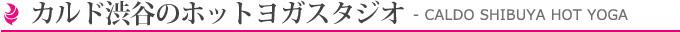 カルド渋谷のホットヨガスタジオ Caldo Shibuya HotYoga