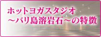 ホットヨガスタジオ~バリ島溶岩石~の特徴