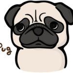 写真素材_パグ(犬のイラスト)_xf1935199557