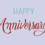 Happy anniversary typography design illustration