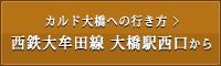 カルド大橋への行き方:西鉄大牟田線 大橋駅西口から